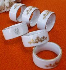 Napkin Rings with Gold Decoration