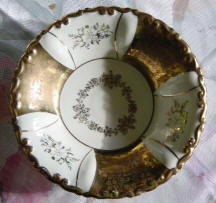 Gold ^ White Decorative Plate
