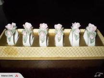 Raised Rose Napkin Rings