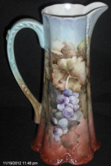 Pitcher with Grape Leaf Clusters
