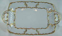 White Tray with Gold Trim
