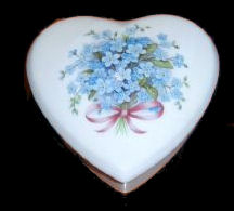 Trinket Box with Blue Flower