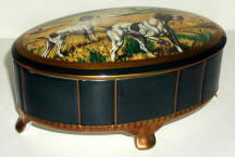 Hunting Scene Decorated Trinket Box