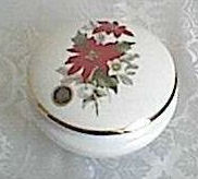 Poinsettia Decorated Trinket Box
