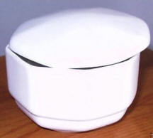 Hexagon Shaped  White Trinket Box