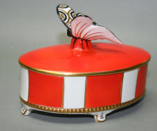 Trinket box with butterfly lid